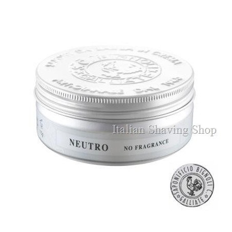 Sapone da Barba in Crema Neutro No Fragrance Saponificio Bignoli