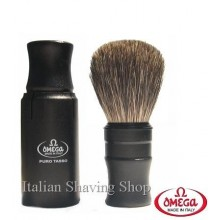 Omega 614 Badger TurnBack Travel Shaving Brush