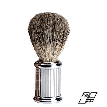 Pennello da Barba in tasso con manico cromato Fatip