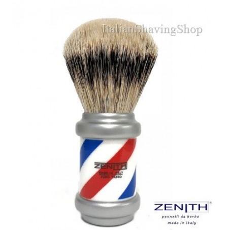 Pennello da barba Zenith Barberpole tasso Extra Silvertip