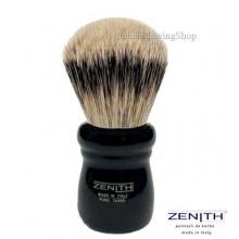 Pennello da barba Zenith 505 Nero Tasso Extra Silvertip