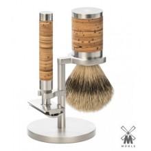 Set da barba Mühle ROCCA Inox Manico Betulla