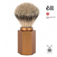 Shaving brush Muhle Hexagon Bronze, silvertip badger