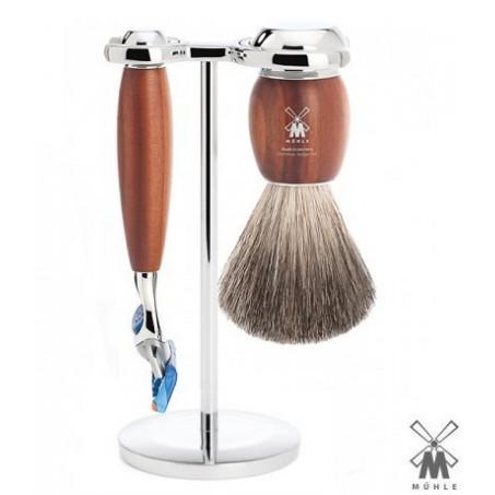 Set  da barba Mühle Fusion legno di susino