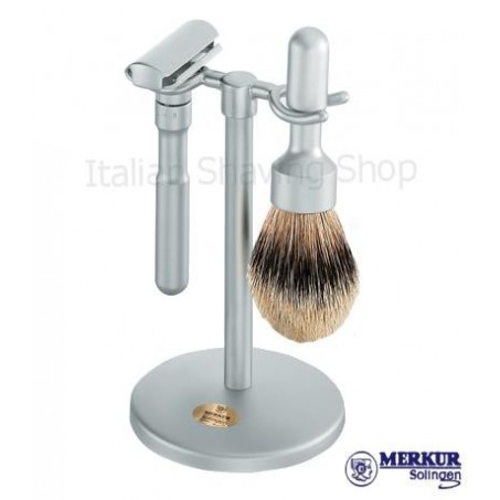 Set da barba Merkur Futur satinato