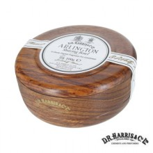 Ciotola legno Mahogany effect D.R. Harris con sapone da barba Arlington