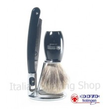Set with Dovo brush and razor 101 5/8 - black handle
