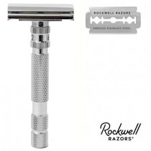 Rasoio di Sicurezza DE Rockwell Adjustable Model T White Chrome
