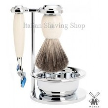 Mühle Shaving set Fusion resin ivory with Bowl