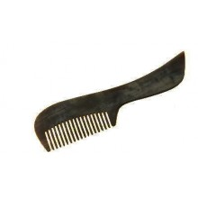 Moustache small Real Horn Comb