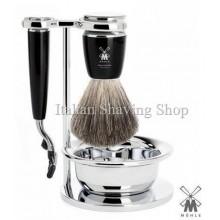 Muhle Shaving set Mach3 Black with Bowl