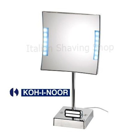 Specchio da tavolo quadrololed con luce a led koh i noor for Specchio da tavolo con luce ikea