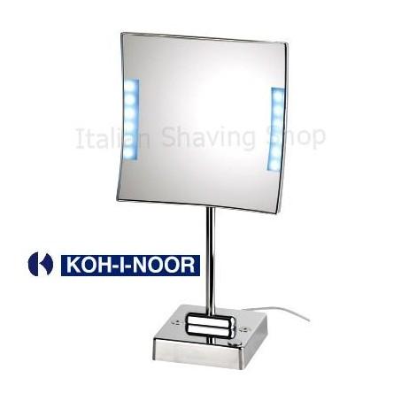 Specchio da tavolo quadrololed con luce a led for Specchio da tavolo con luce ikea