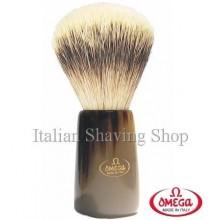 Pennello da barba in  tasso Omega 6226 manico corno