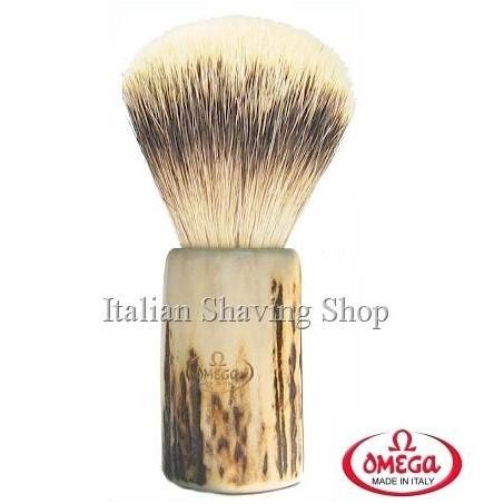 Pennello da barba in  tasso Omega 6550 manico cervo