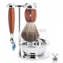 Mühle Shaving set Fusion plum tree wood with Bowl