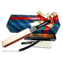 Gift Set with razor Dovo 101 5/8, Paddle strop, Coticule Whetsto