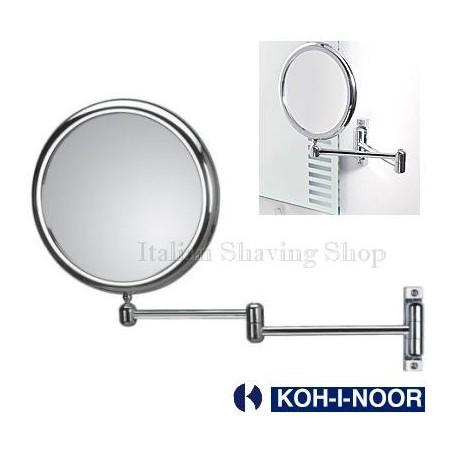Specchio da parete bifacciale a doppio braccio