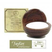 Sandalwood Shaving Soap in Wooden Bowl - Taylor