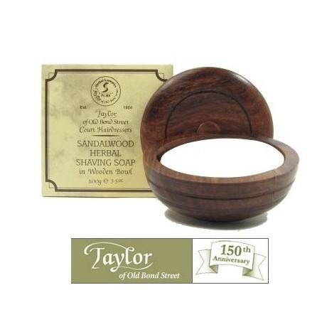 Ciotola legno Taylor con sapone da barba al Sandalo