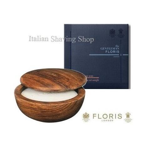 Ciotola legno Floris con sapone da barba Elite