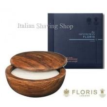 Ciotola legno Floris con sapone da barba No.89