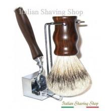Set da barba con rasoio Mach3 - manici in Ebano