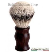 Pennello da barba in tasso manico ebano