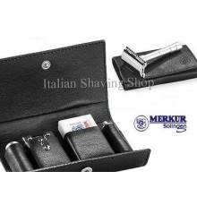 Merkur 46C Travel Razor in Leather Case
