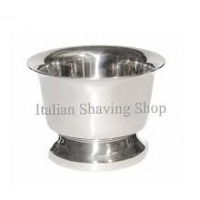Ciotola inox per sapone da barba con base