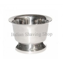 Shaving Soap Bowl stainless steel - with base