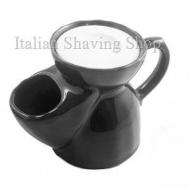 old England Pottery Shaving Mug Black