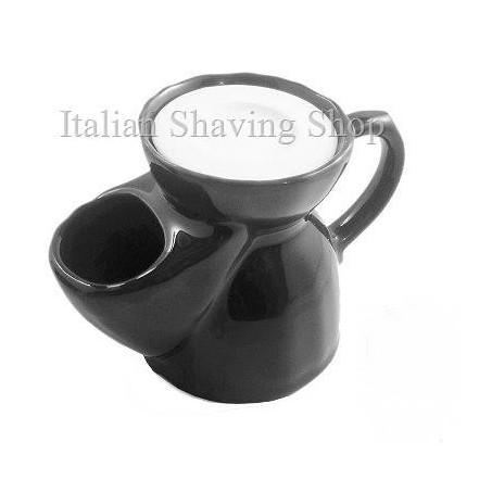 Brocca da barba old England in ceramica nera