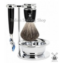 Mühle Shaving set Fusion Black with Bowl