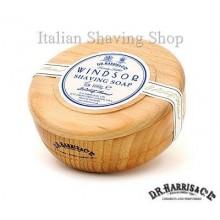 Ciotola legno D.R. Harris con sapone da barba Windsor