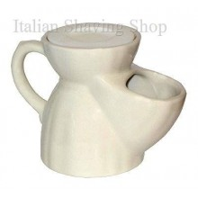 old England Pottery Shaving Mug White