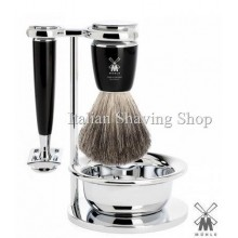 Muhle Shaving set DE black with Bowl