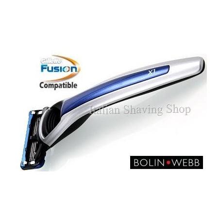 Rasoio Fusion Bolin Webb X1 Argent Blue