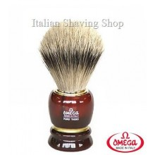 Pennello da barba in  tasso Omega 636